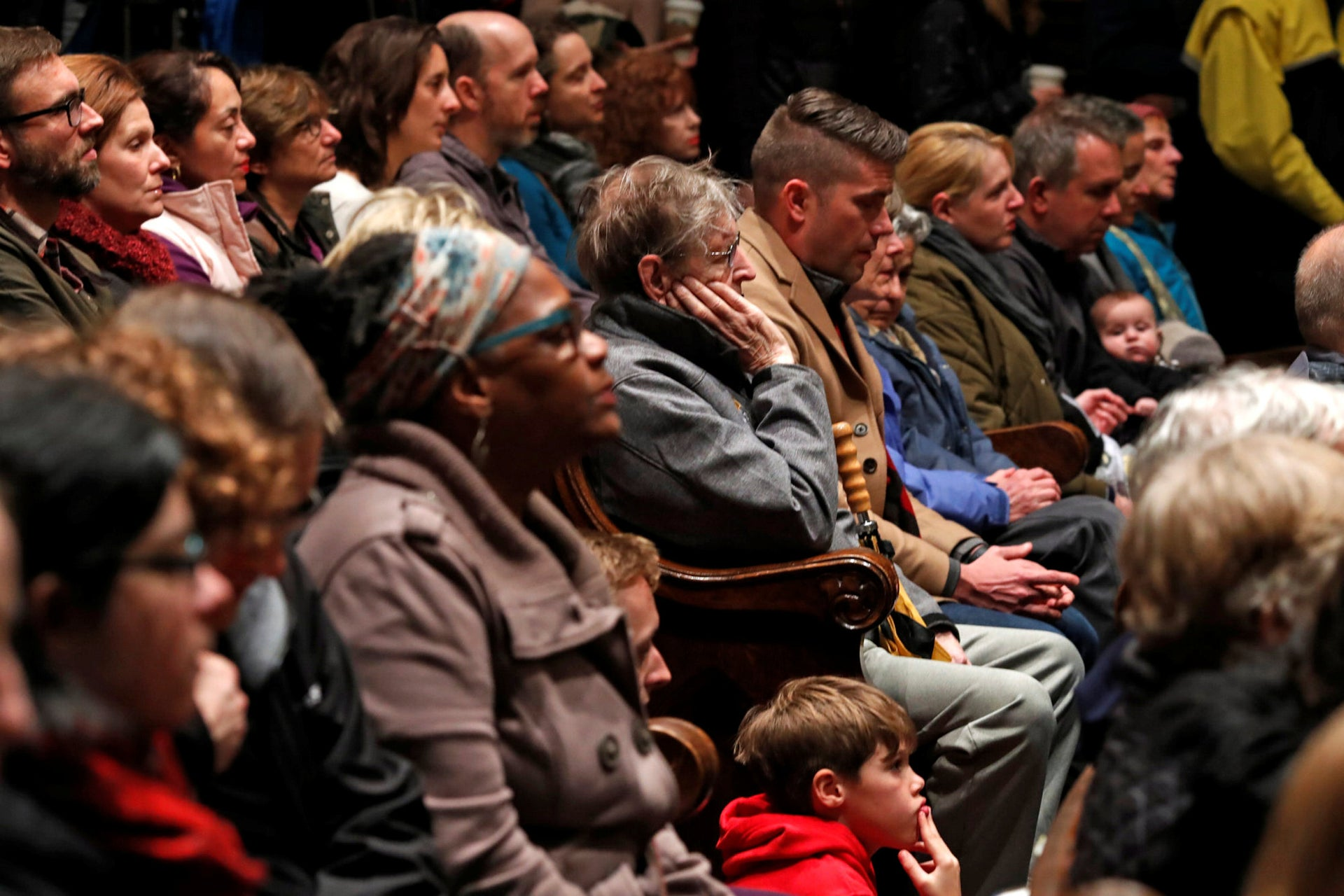 A church memorial service for victims of Pittsburgh synagogue shooting.