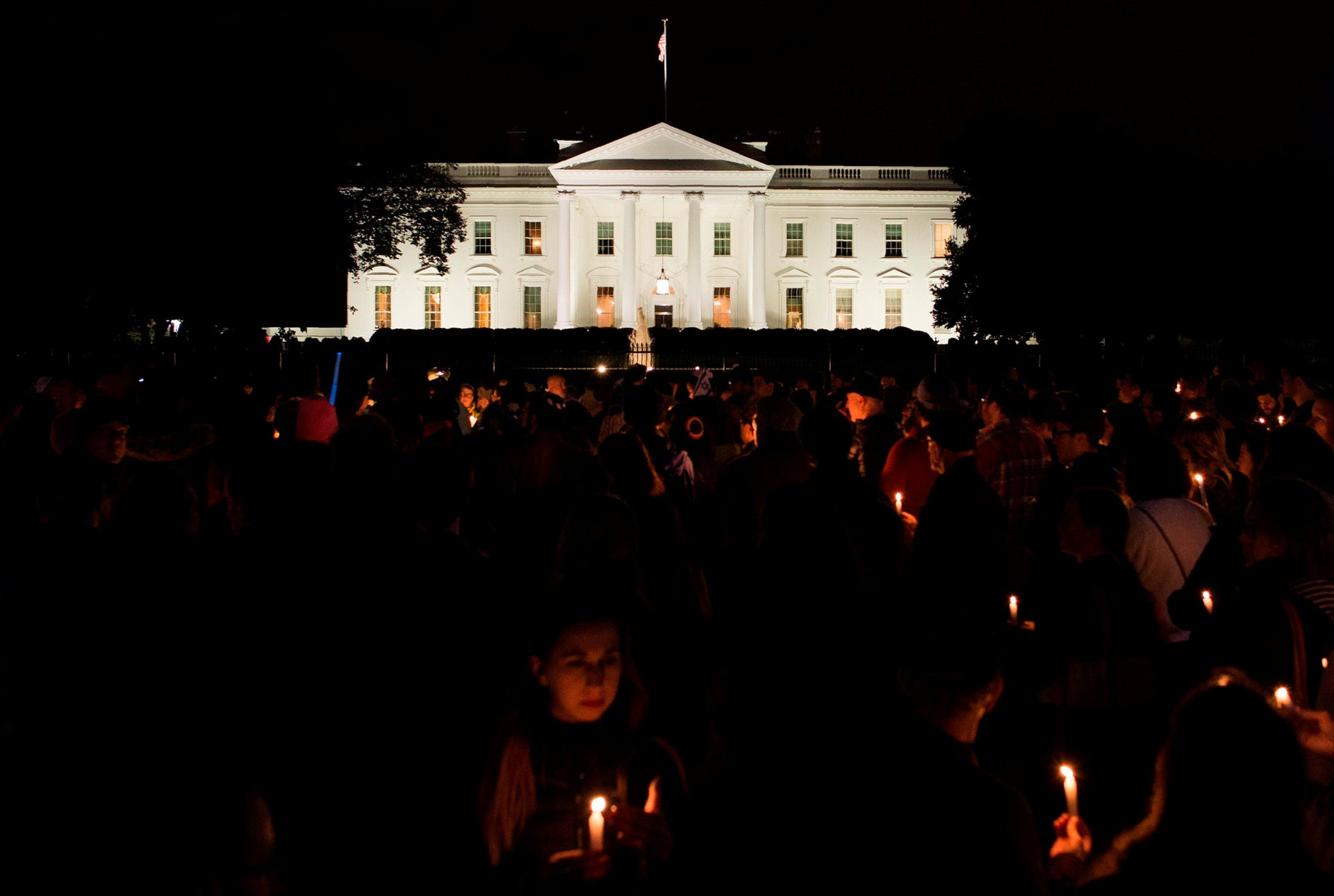 Vigil in front of the White House in memory of those killed in Pittsburgh synagogue shooting.