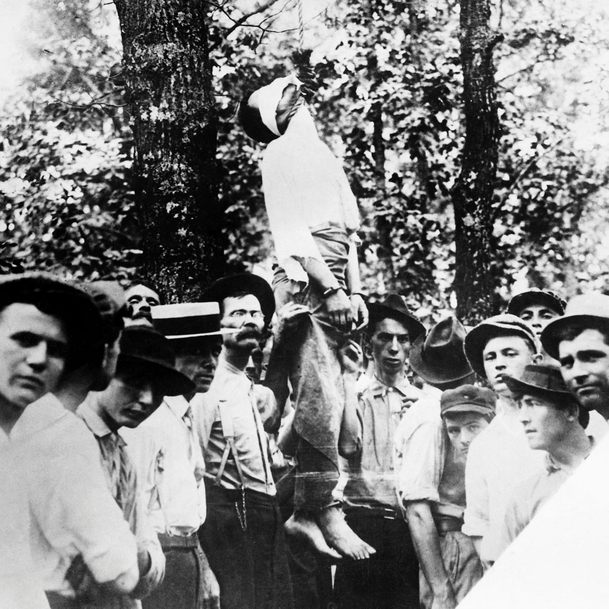 "The lynching of Leo Frank on August 17, 1915 by the ""Knights of Mary Phagan."" Over the following months, more than half of Georgia's 3,000 Jews emigrated from the state."