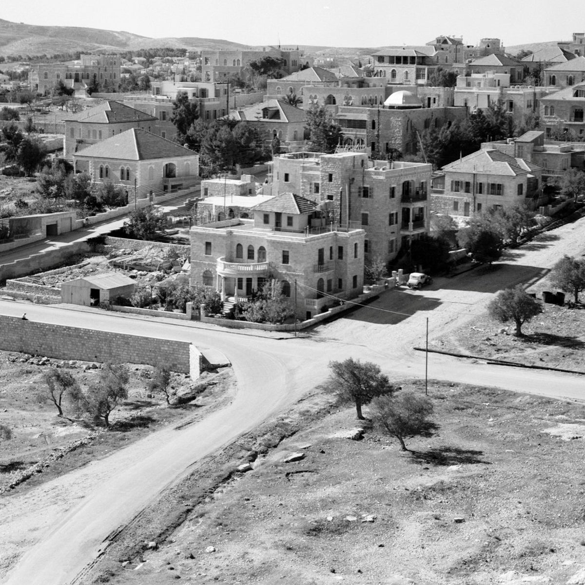The Talbieh neighborhood of Jerusalem in the 1920s. It has expanded somewhat over the past century.