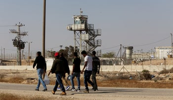 Asylum seekers are released from Saharonim Prison, Negev, southern Israel, April, 2018.