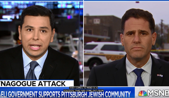 MSNBC's Ayman Mohyeldin challenges  Israel's ambassador to the U.S. Ron Dermer, Monday 29, 2018.