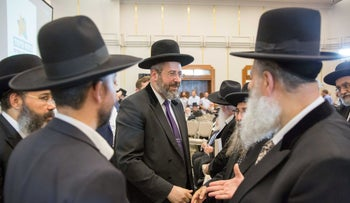 Israel's Ashkenazi chief rabbi David Lau in Jerusalem, July 2018