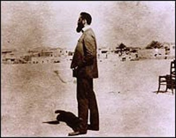 Theodor Herzl in the Holy Land in the autumn of 1898.