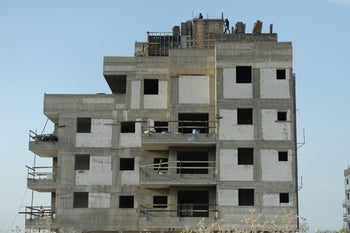 Construction in the Israeli city of Afula.