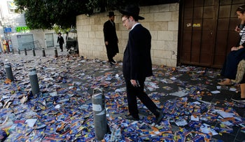 The ultra-Orthodox neighborhood of Mea Shearim in Jerusalem on the day of the polls, October 30, 2018
