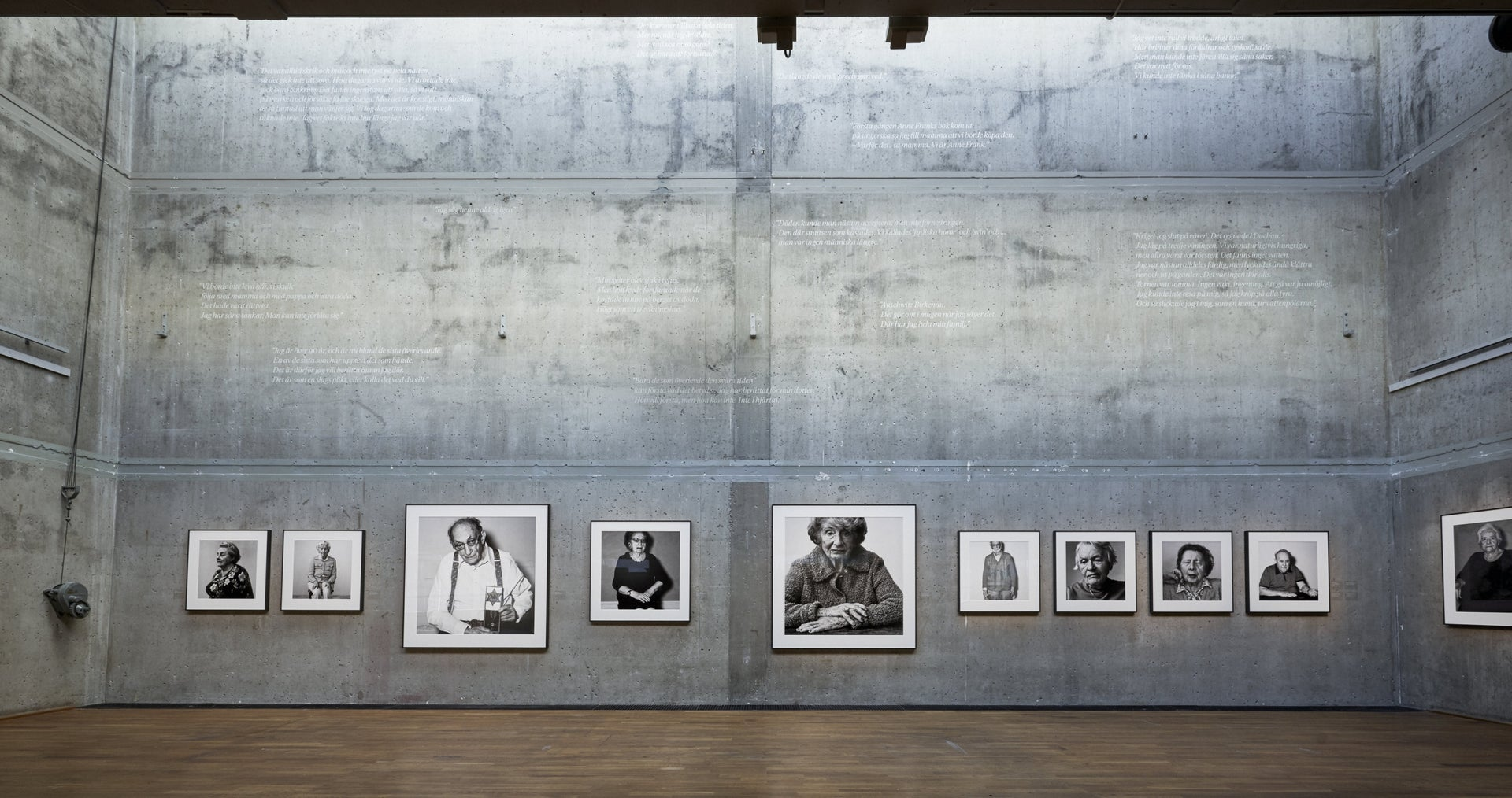 """Portraits in the """"Witnesses"""" exhibition, at the Kulturhuset Stadsteatern in Stockholm, Sweden."""