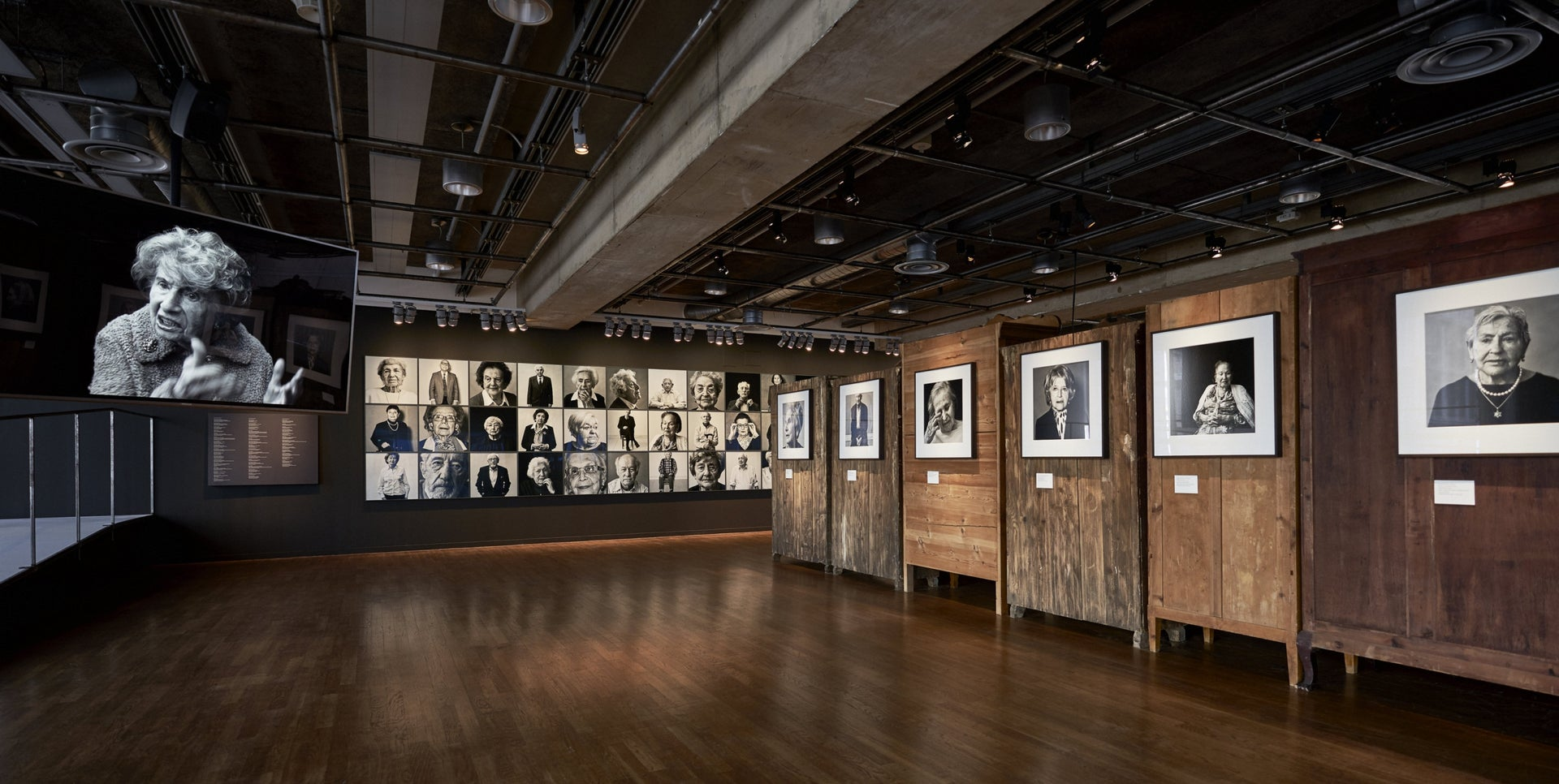 """""""Witnesses,"""" at Kulturhuset Stadsteatern in Stockholm. This time Jansson's images are not of supermodels or celebrities."""