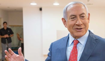 Prime Minister Benjamin Netanyahu during Israel's municipal elections this week.