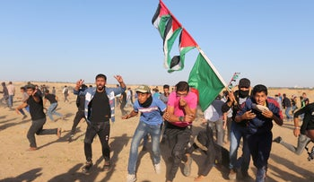 Demonstrations along the Gaza border, November 2, 2018.