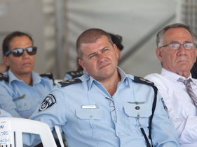 Edri as commander of the Tel Aviv police force at a ceremony, last year.