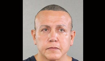 Booking photo of Cesar Sayoc,the suspect in connection with 12 suspicious packages and pipe bombs sent to critics of U.S. President Donald Trump, courtesy of the Broward County Sheriff's Office.
