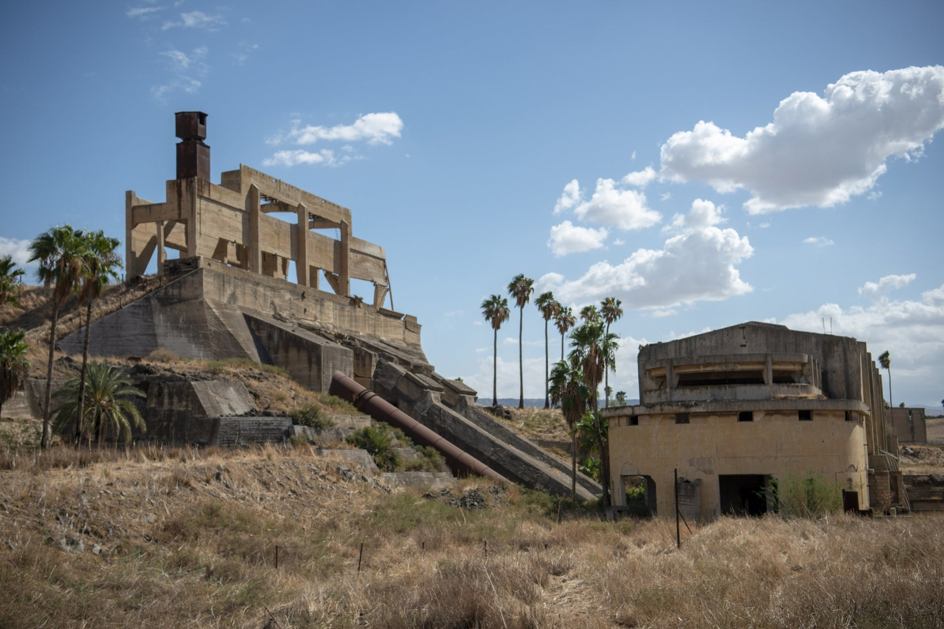 The old hydroelectric power station in Naharayim. Provided power to the whole of the north during late British Mandatory Palestine times.