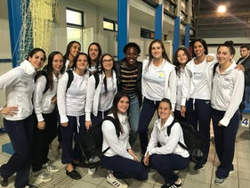 The Israeli women's water polo team.