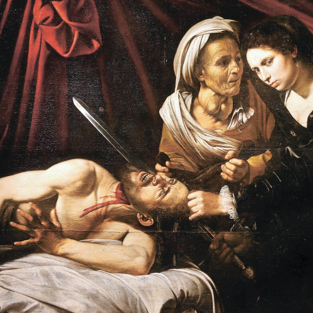 The Gauls didn't invent this wheel: Judith Beheading Holofernes, possibly painted by Caravaggio (1571-1610), based on the story in the deuterocanonical Book of Judith