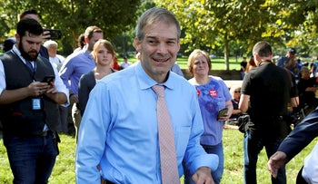 Rep. Jim Jordan (R-OH) attends a rally in support of his bid to become the next Speaker of the House at the Capitol in Washington, U.S., September 26, 2018