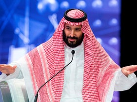 Saudi Crown Prince Mohammed bin Salman speaks during a joint session of the Future Investment Initiative conference, Riyadh, Saudi Arabia, October 24, 2018.