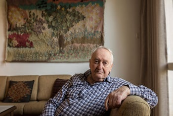 """Emanuel Marx at his home in Ramat Hasharon. """"My mother told us to go get dressed and go to school – as if nothing had happened."""""""