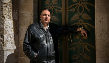 Adeeb Joudeh outside the Church of the Holy Sepulchure.