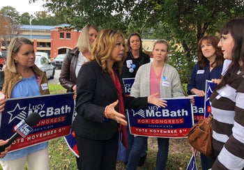 Democratic candidate Lucy McBath on the campaign trail in Georgia's 6th Congressional District, October 25, 2018.
