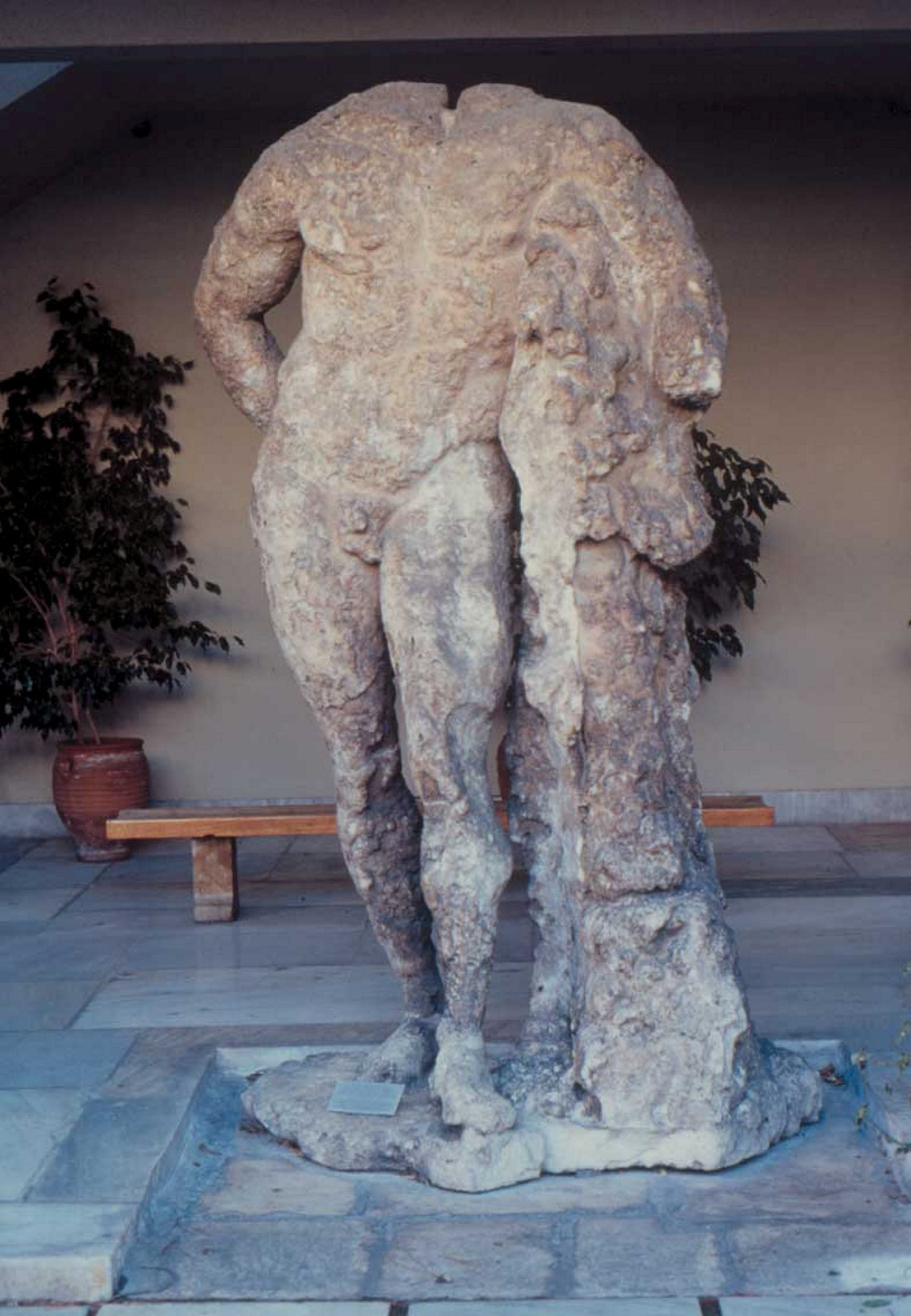 Ancient copy of colossal statue of Herakles discovered by sponge divers in 1901