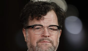 """Film director Kenneth Lonergan poses for photographers as he arrives for the screening of his movie """"Manchester by the sea"""", at the Rome Film Festival, in Rome, Friday, Oct. 14, 2016."""