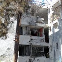 The old building that was damaged by a rocket fired from the Gaza Strip, in the southern Israeli city of  Ashkelon, November 13, 2018.