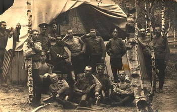 Jewish soldiers in the Russian army during World War I, 1914-1917.