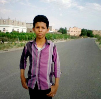This 2018 handout image provided by the al-Hassbi family, shows a photo of Yahia al-Hassbi, who was killed in a drone strike, in Yemen. Al-Hassbi was tending to his goats about seven kilometers (4 miles) from a checkpoint when a drone struck. He was killed immediately.