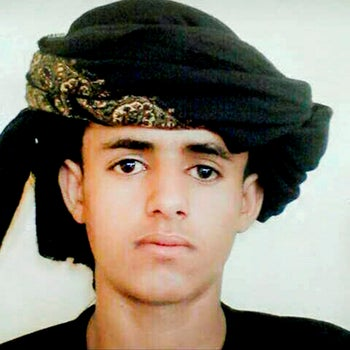 This 2018 handout image provided by the al-Hag family, shows a photo of 17-year-old Mahdar Hussein al-Hag, in Yemen. Al-Hag was hit by a drone strike while on his motorbike in the town of Khora in Shabwa as he was returning from the market getting vegetables, his father said.