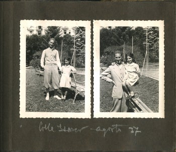 Italian Holocaust survivor Liliana Segre is seen as a little girl with her dad in August 1937