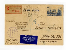 Letters from the Hebrew University archive.