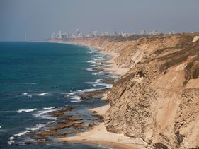 A stretch of beach in central Israel.