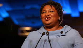FILE PHOTO: Stacey Abrams speaks to the crowd of supporters in Atlanta, Georgia, November 7, 2018.