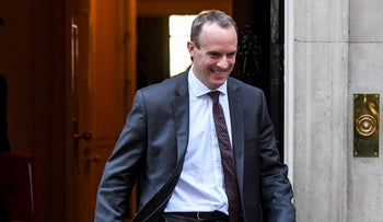 Dominic Raab, U.K. exiting the European Union (EU) secretary, departs from a weekly meeting of cabinet ministers at number 10 Downing Street in London, U.K., on Tuesday, Nov. 13, 2018.
