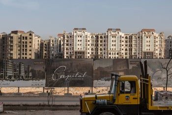 New residential complexes being built in Egypt's new administrative capital, East of Cairo, February 20, 2018.