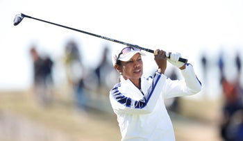2018 Ryder Cup at Le Golf National - Guyancourt, France - September 25, 2018 Condoleezza Rice in action during the celebrity challenge match