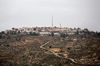 a general view of the West Bank Jewish settlement of Psagot near Ramallah, January 27, 2014.