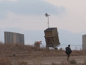 The Iron Dome system in Sderot, Israel, August 11, 2018.