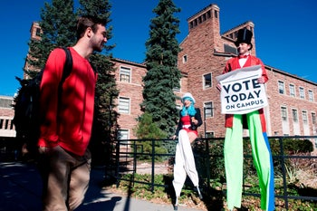 The campus of UC Boulder where student Lior Gross created what is essentially a third gender in Hebrew grammar, pictured on the day of midterm elections on Tuesday, November 6, 2018.