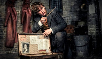 "Eddie Redmayne in a scene from ""Fantastic Beasts: The Crimes of Grindelwald."""