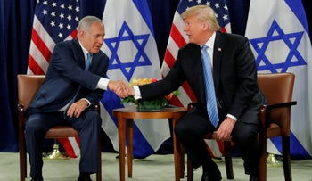 Trump and Netanyahu meeting in New York.