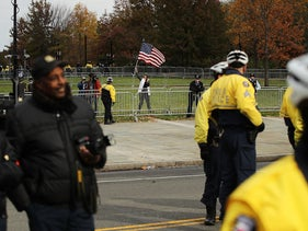 File photo: police keep a gathering of self-described conservatives and a group of counter-protesters separated on Independence Mall on November 17, 2018 in Philadelphia, Pennsylvania.