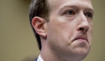 File photo: Mark Zuckerberg, CEO and founder of Facebook Inc., listens during a House Energy and Commerce Committee hearing in Washington, D.C., U.S., April 11, 2018.