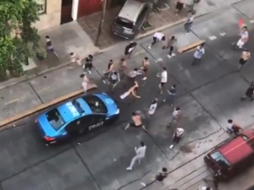 Riots that broke out on the streets of Buenos Aires, November 22, 2018.