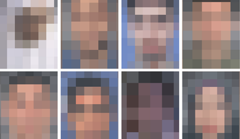 Blurred image of the photos publicized by Hamas