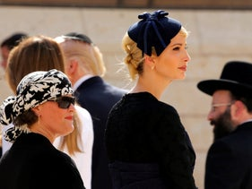Ivanka Trump waits for her husband, White House senior advisor Jared Kushner, to leave a note at the Western Wall in Jerusalem May 22, 2017.  REUTERS/Jonathan Ernst