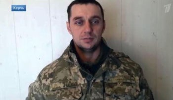 Image from video of Ukrainian sailor 'admitting' provocation of Russian navy