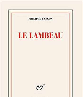The cover of Lançon's book 'Le Lambeau' (lit., 'the shred'; published by Gallimard)