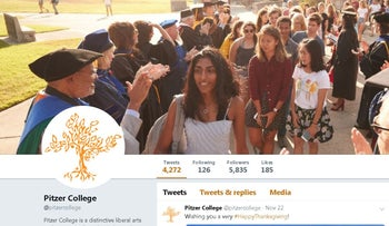 Image of Pitzer College's official Twitter account